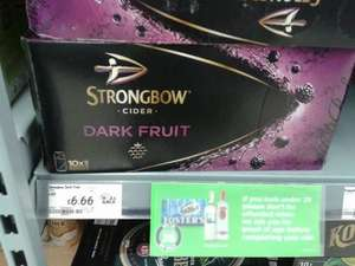 £6.66 for 10 x 440ml Strongbow Dark Fruit Cider instore @ Asda