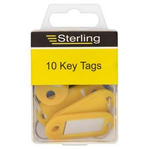 10 Pack of key tags for £1 @Asda Direct free click and collect