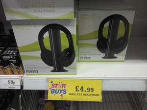 Creative Beats - Wireless headphones Black colour £4.99 @ Home Bargains
