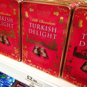 Walkers Turkish Delight 300g Tin - Only £2.99 Home Bargains