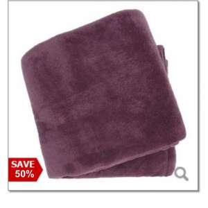 Debenhams fleece blankets/throws HALF PRICE £10