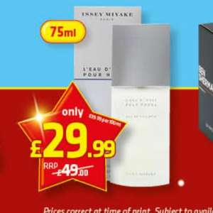 issey miyake l'eau d'issey pour homme 75ml £29.99 @ savers