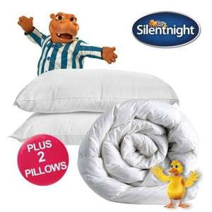 Silentnight Warm Winter King Size/Double Duvet 13.5 or 15 Tog and 2 FREE Hollow Fibre Pillows - £19.99 @ UK Bedding eBay