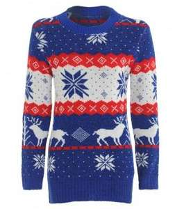 Womens knitted Christmas jumpers from £5.39 del. @ MaryJane Fashion