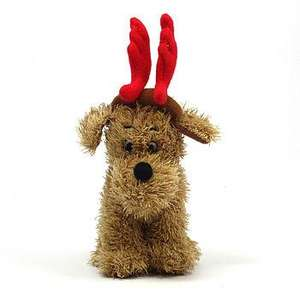 Cute singing dog with antlers toy. Sings 'we wish you a merry christmas' 10% off so ONLY £6.75 @ notonthehighstreet