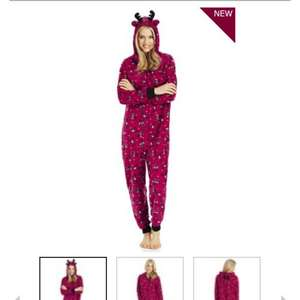 Ladies reindeer fleece onesie at  tesco for £12.00