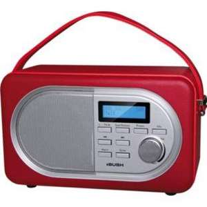 Bush DAB Leather Radio - Red was £69.99 now £34.99 @ Argos