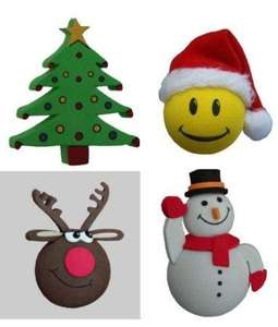 Christmas Santa Claus / Christmas Tree / Rudolph The Red Nose Reindeer / Snowman Aerial Toppers (PACK OF 4) - Pricezone @ Amazon £4.97 Delivered