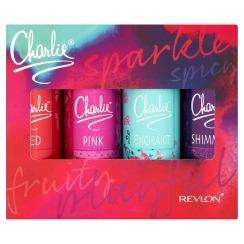 SET OF 4 CHARLIE BODY SPRAYS GIFT SET £3.50 @ Superdrug