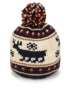 Reindeer Design Knitted Beanie Hat £4.80 @ M&S (free del to store)
