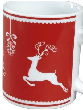 Reindeer Mugs (4 pack) @ very.co.uk - £6