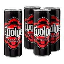 Evolve Energy Drink 250ml 4 for £1.00 poundland