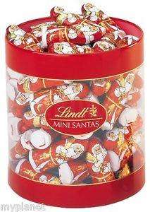 67 x LINDT LUXURY MILK CHOCOLATE MINI SANTA FATHER CHRISTMAS GIFT XMAS 700G TUB £19.99 @  myplanet  Ebay