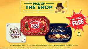 BOGOF on Fox's and McVitie's Biscuit Tins £6.00 @ Morrisons