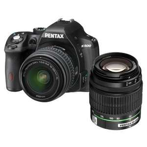 Pentax K-500 Digital SLR Camera with 18-55mm + 50-200mm DAL Lenses @ Jessops £379.99