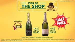 Half Price Lanson Black Label Brut £16.49 - Lanson Rose Champagne £18.99 @ Morrisons