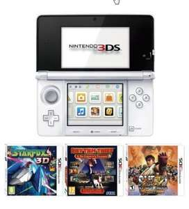 Nintendo 3DS White  - Bundled with 3 Games for £129.99 @ amazon