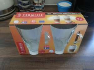 Latte glass x 2 0.4L 99p @ home bargains perfect for tassimo latte