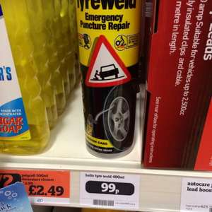 Holts tyre weld puncture repair 99p @ Sainsburys instore