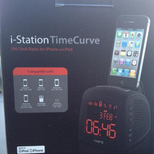 i-station timecurve iphone dock/radio alarm @ B&M