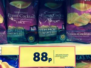 WALKERS Prawn Cocktail 6 Pack of crisps (6x25g) 88p in store only @ Tesco EXPRESS stores