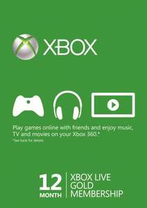 Xbox live gold - 12 months for £25.99 at www.cdkeys.com