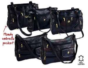 ALDI - Ladies Patch Leather Handbags £6.99