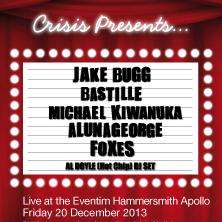 See Jake Bugg, Bastile and many for £22.50pp (plus £2.50 for whole delivery) and support Crisis Charity in doing so!!! (20th December Hammersmith Apollo)