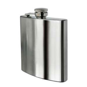 8 oz - Stainless Steel  Hip Flask £3.34 + delv. or a possible add on to get supersaver delivery @ amazon