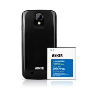 Anker® 5200mAh Extended Battery for Samsung Galaxy S4, SIV, S IV, GT-I9505 (Not for Galaxy S4 Active), with NFC/Google Wallet + Black Cover  £15