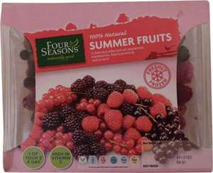 Aldi frozen berries- summer fruits, 500g £1.49
