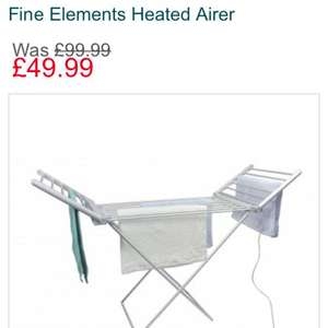 Fine Elements Heated Airer Was £99.99 now £49.99