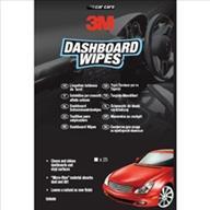 3M Dashboard,  Leather, Glass Wipes 25 per Pk, Case Of 12 Pks