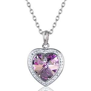Swarovski elements heart necklace £85 now £16.00 @ Warren James
