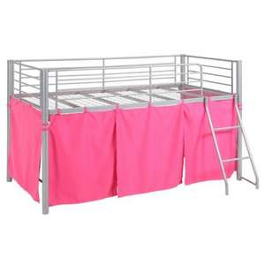 girls pink mid sleeper bed frame, sainsburys £35.00 + £3.95 p&p