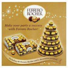 Ferrero Rocher 60 Piece Pyramid (HUGE 750g) WAS £25 Now HALF PRICE £12.50 at tesco INSTORE ONLY