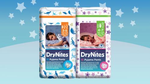 Free sample of DryNites pyjama pants @drynites.co.uk