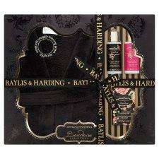 Balyis & Harding Black Orchid With Fuchsia Gown Set BUY ONE GET ONE FREE