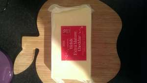 Lllandyrnog Welsh extra mature 800g cheddar block 1/2 price £5 @ M&S
