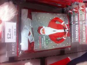 Santa Outfit (Adult 5 Piece) One Size Fits All £2.99 @ Home Bargains