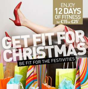 12 Day pass for £15  @ David Lloyd
