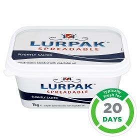 Lurpak Spreadable Butter 1kg only £3 instore & online ASDA