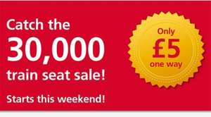 £5.00 One Way 30,000 Seat Sale Starts Dec 14th  @ Greater Anglia