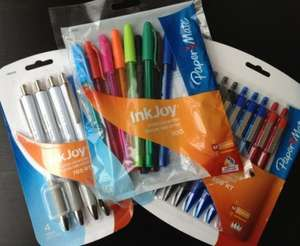 Sainsburys Local - Papermate Inkjoy 10pack. Assorted colours for £1.20