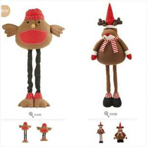 Large Novelty Xmas Character with extendable legs. £10. Matalan.