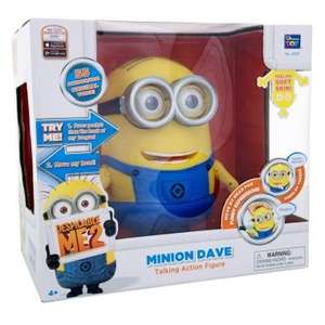 Despicable me 2 20cm talking minion Dave or Stuart £25 & fart blaster £15 - INSTORE @ ASDA