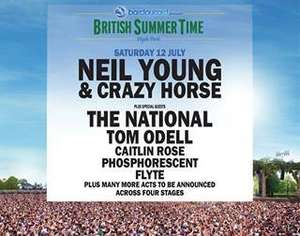 British Summer Time : Hyde Park - Neil Young £60, McBusted £49.50 - NO FEES @ Barclaycard Unwind