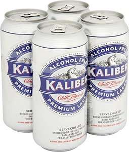 B&M have 4 pack of 440ml Kaliber Alcohol-free beer (0.05% really) for .50p  - £2.50 at Tesco! Drive safe!