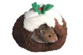 Christmas Pudding Hamster Bed £3.41 delivered @ Animeddirect