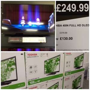 SUPER CHEAP !!!! 40 inch Toshiba LED TV £199.99 Clearance Bargains Darlington